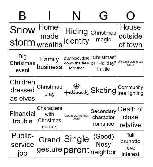Hallmark Movies Bingo Card