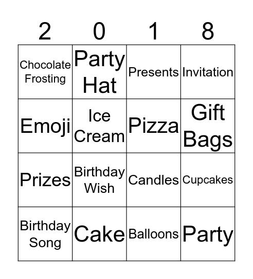 Birthday Bingo @ RIC Bingo Card