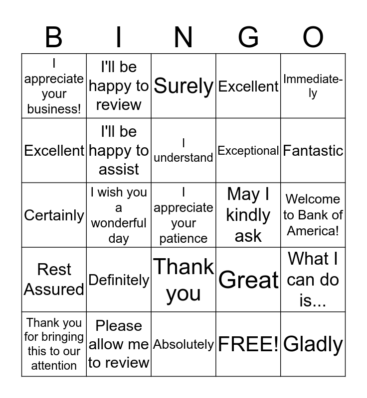 Delightful Words  Bingo Card