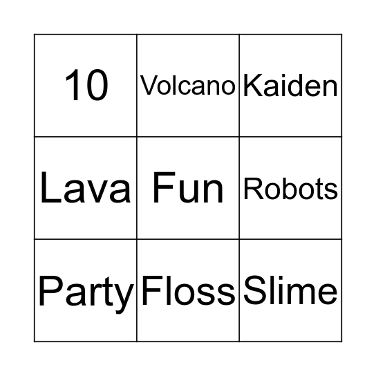 Sci4Us Bingo Card