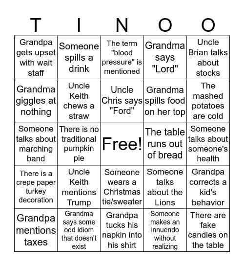Hepp Family Bingo Card