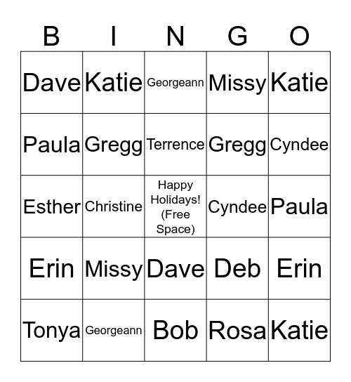 You Did What? Bingo Card