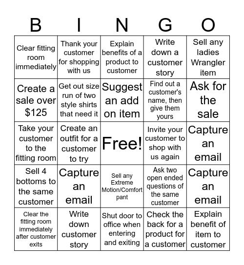 LWO Bingo Card