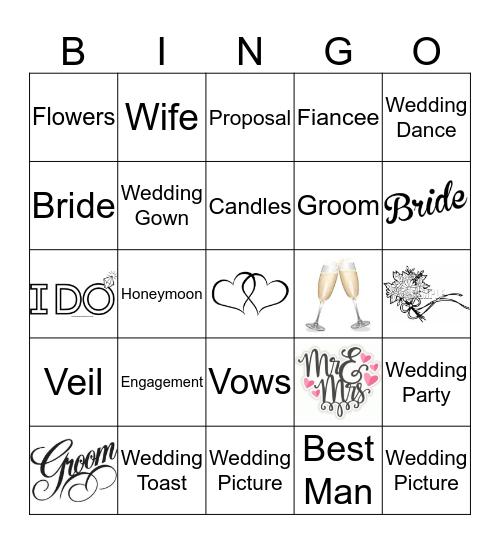 Wedding Bingo  Bingo Card