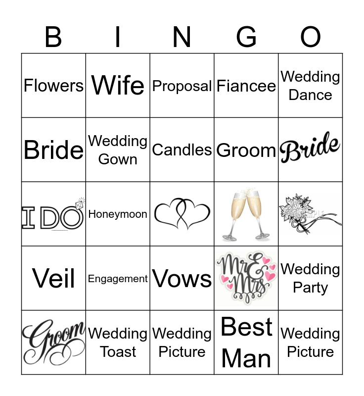 Wedding Bingo  Bingo Card