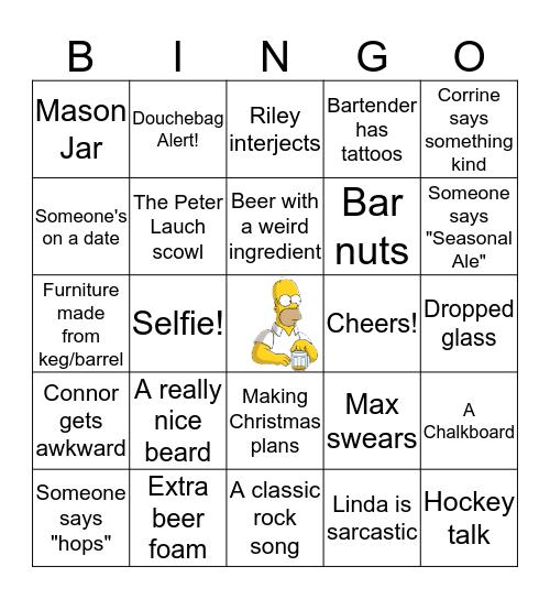 Beer Crawl Bingo Card