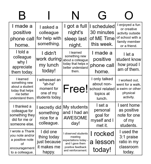 HED in DECEMBER Bingo Card