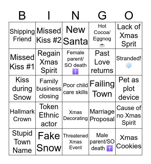 Hallmark Xmas Movie Bingo  Bingo Card