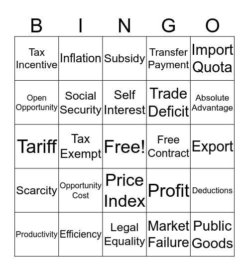 FBLA Bingo Card