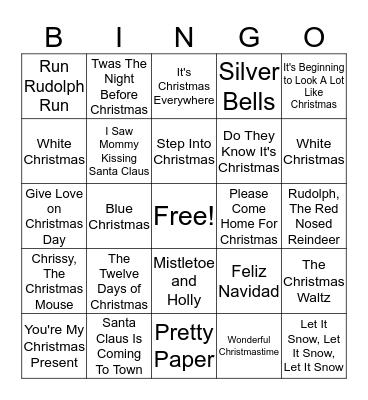 Anser Christmas Bingo 2018! Bingo Card