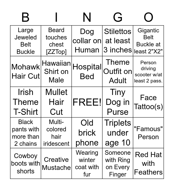 KID State Fair Bingo 2012 Bingo Card