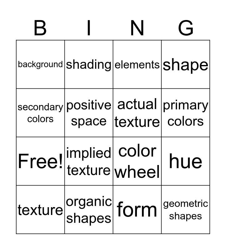 Digital Photography Bingo Card