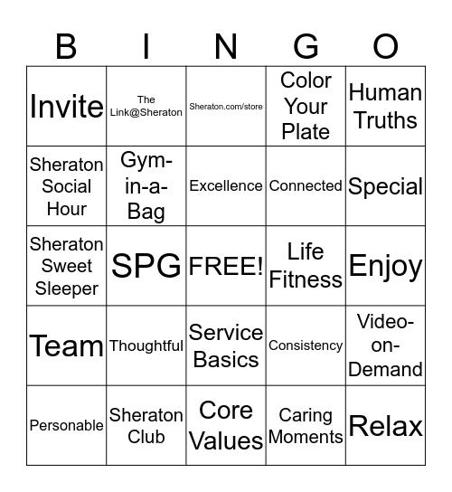 Sheraton Bingo - Game 4 Bingo Card