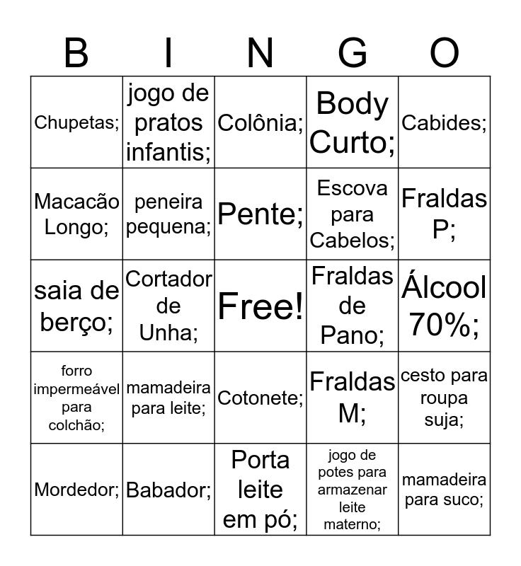 Bingo da Side Bingo Card