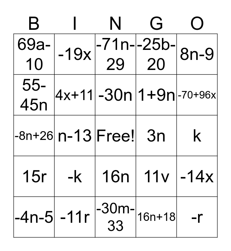 Super Fun Quiz!!! Bingo Card
