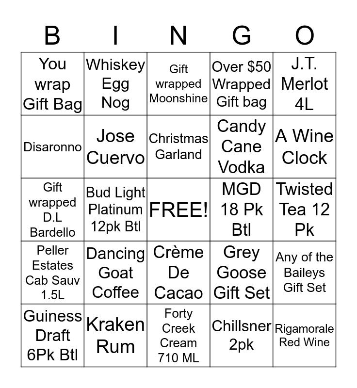 South Broadway Liquor Store Bingo Card