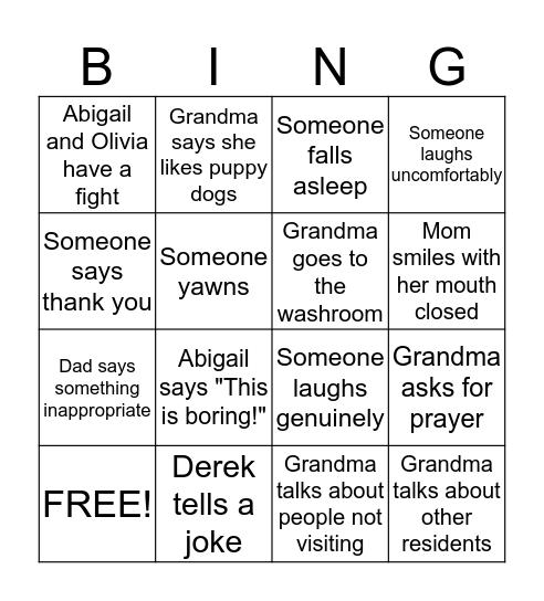 Otterbein Christmas  Bingo Card