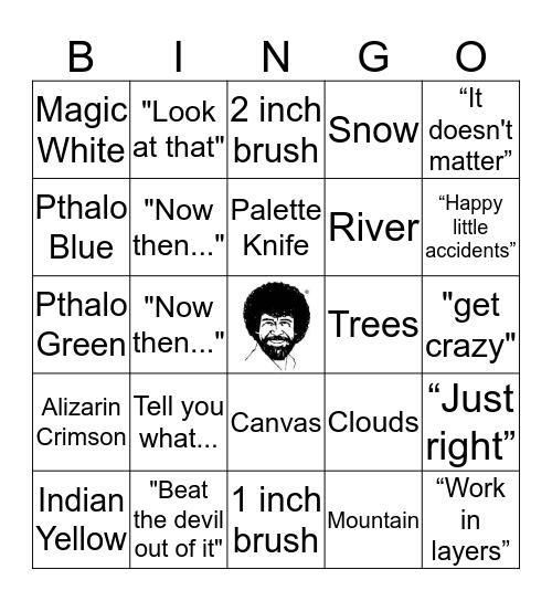 Bob Ross Bingo Card