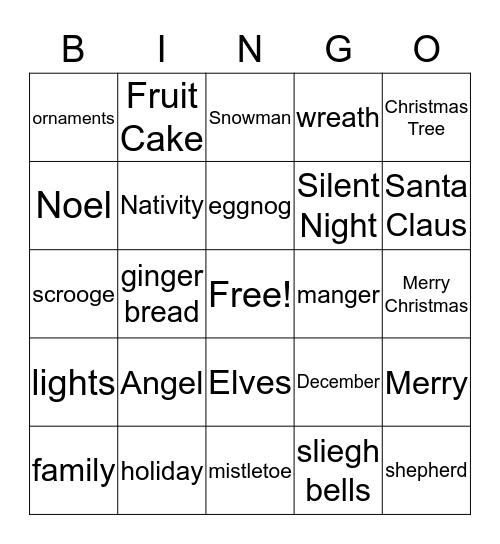 Its Christmas Time Bingo Card