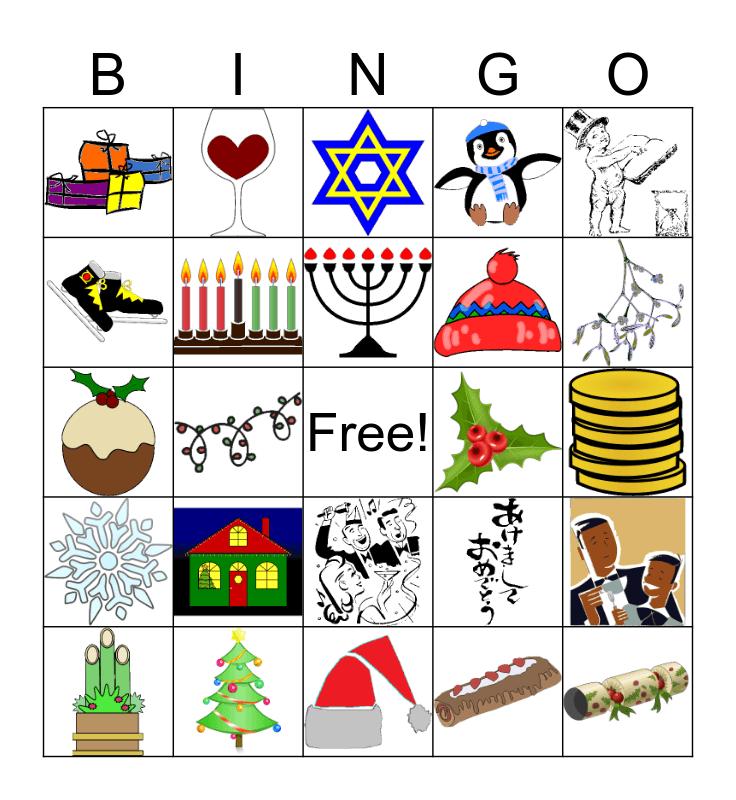 Winter Break Bingo Card