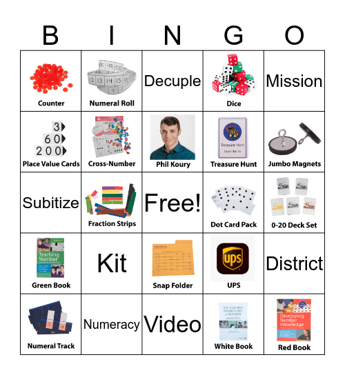 Math Recovery Bingo Blast! Bingo Card