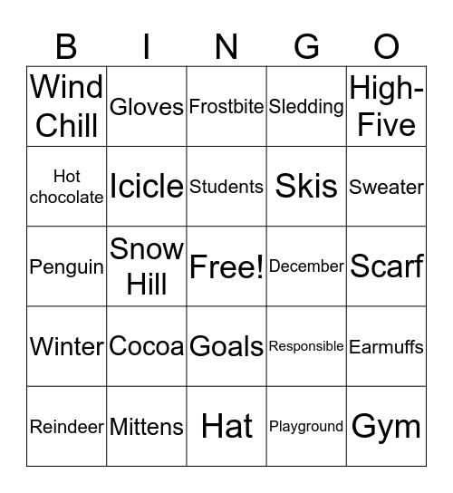 Rocky Time Winter BINGO! Bingo Card
