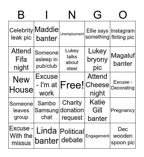Grafton Centre Bingo 2019 Bingo Card