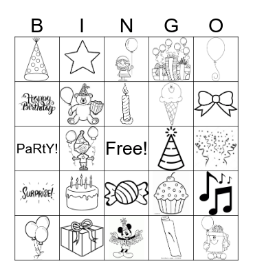 Happy Birthday! Bingo Card