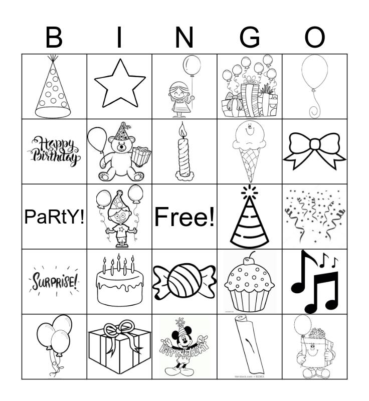 Happy Birthday! Bingo Card
