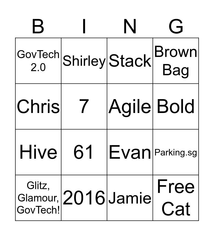 POG Bingo Card