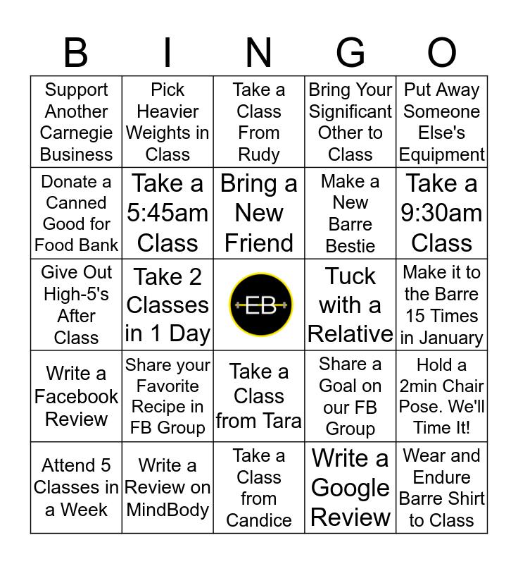 ENDURE the NEW YEAR BINGO! Bingo Card