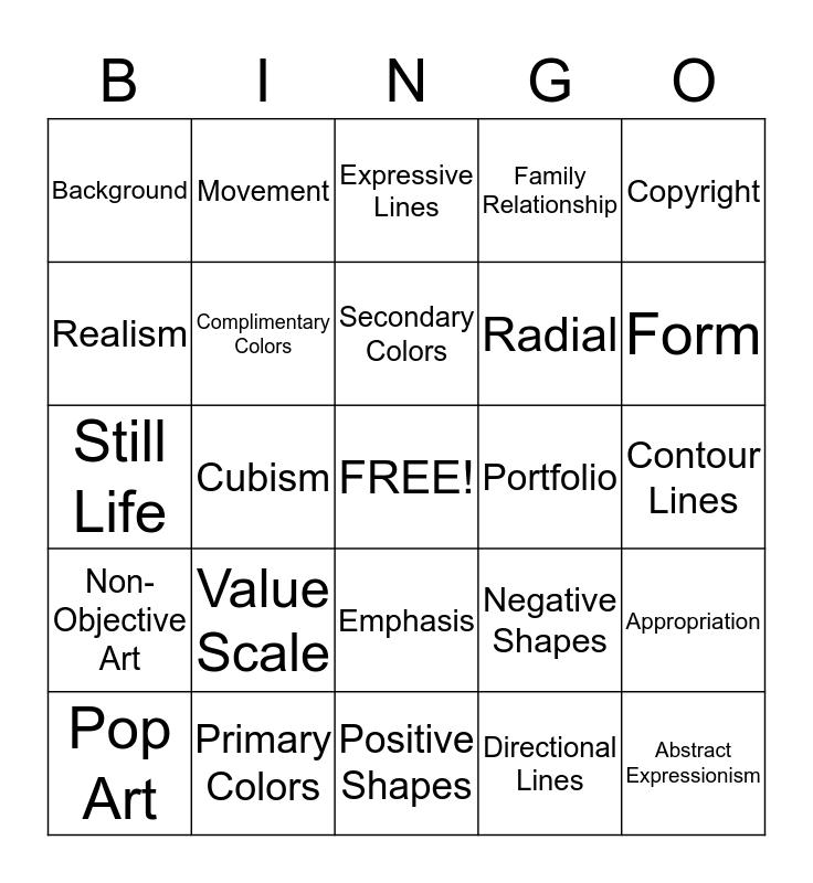 Art 1 ACP Review Bingo Card