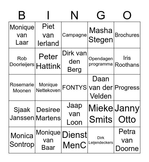Dienst MenC Bingo Card