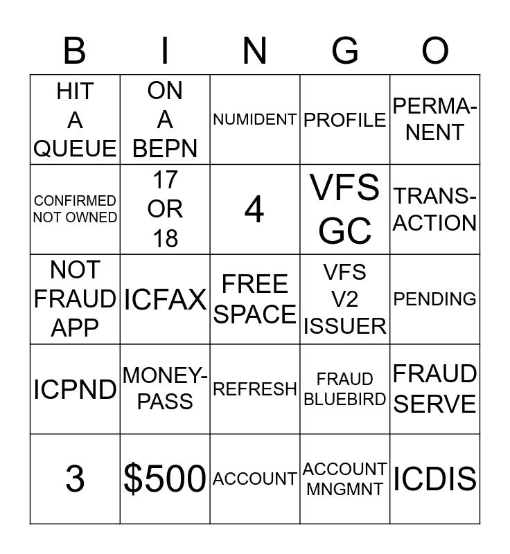 BLUEBIRD! SERVE! ONBOARDING! Bingo Card