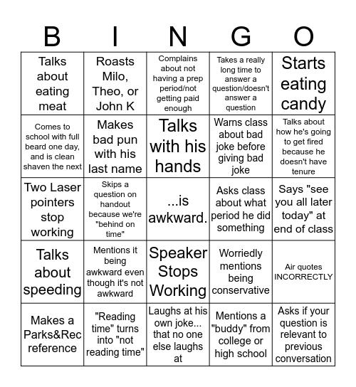 BAUM Bingo Card
