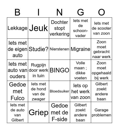 2019  Bingo Card