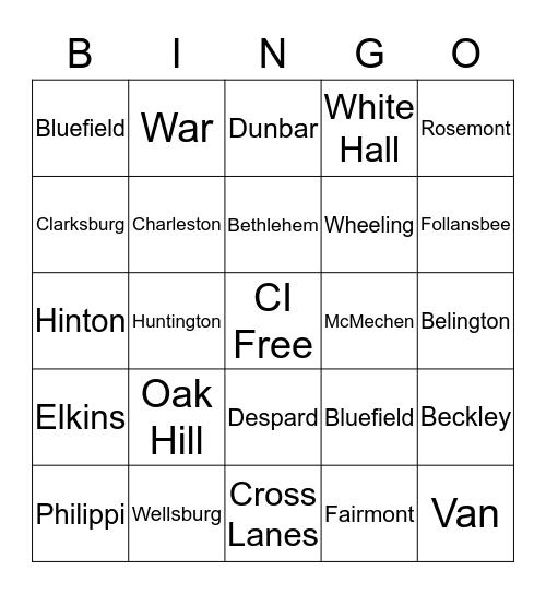 Centralized Intake Bingo Card