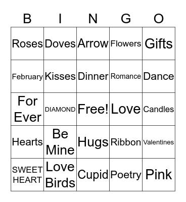Valentines Day Bingo Card