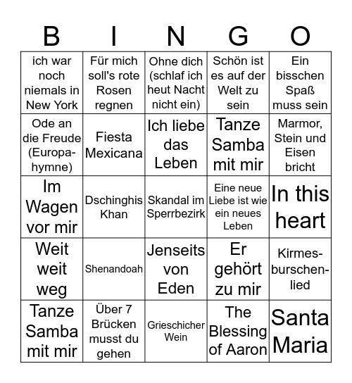 Neujahrsempfang Quartettverein 2019 Bingo Card