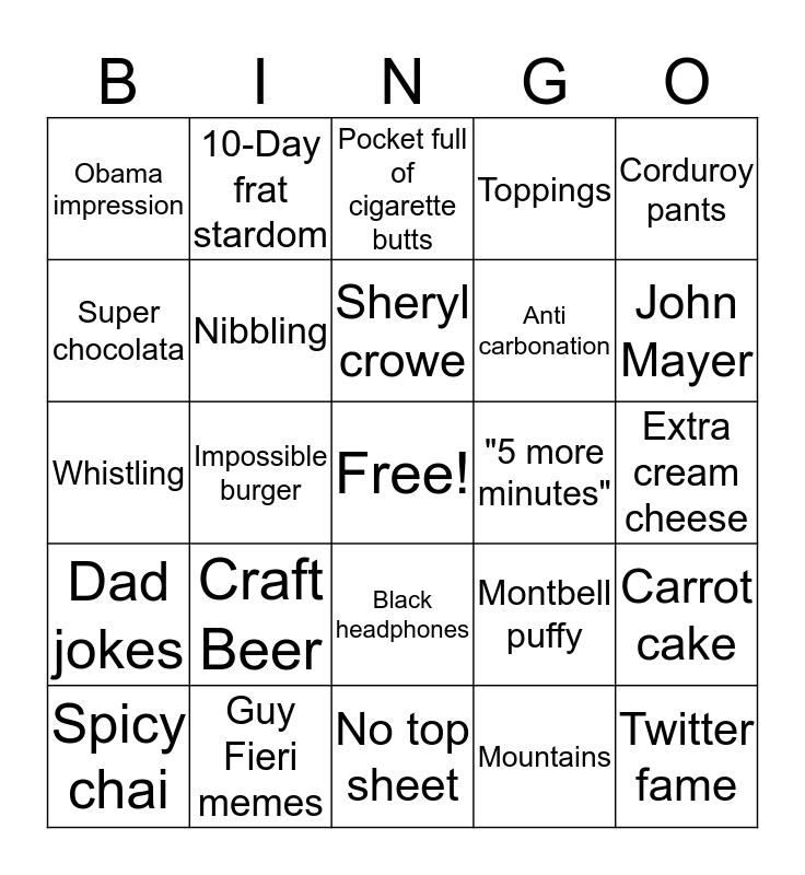 Alex Bingo Card