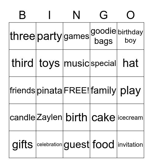 Untitle Bingo Card
