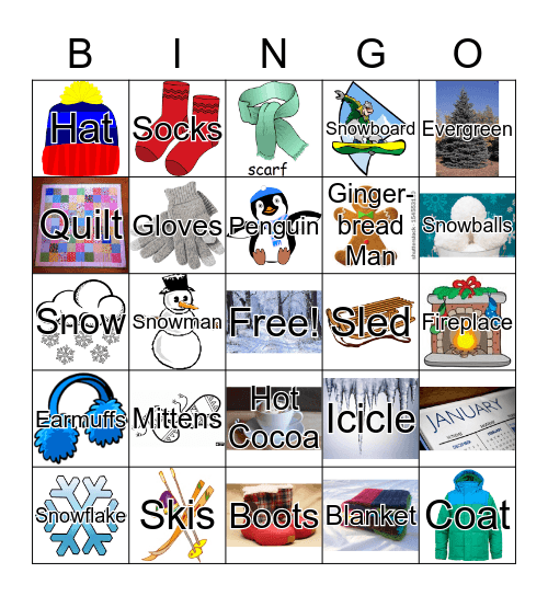 Winter Wonderland Bingo Card