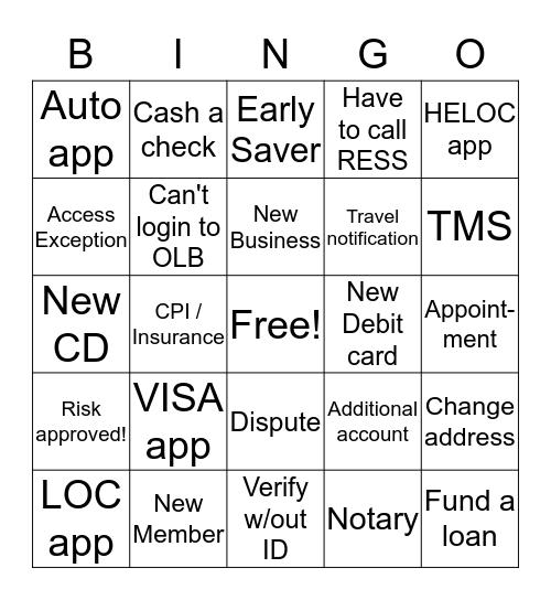 National Fun at Work Day 2019! Bingo Card