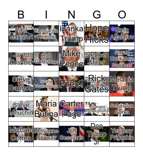 Trump Arrest Bingo Card