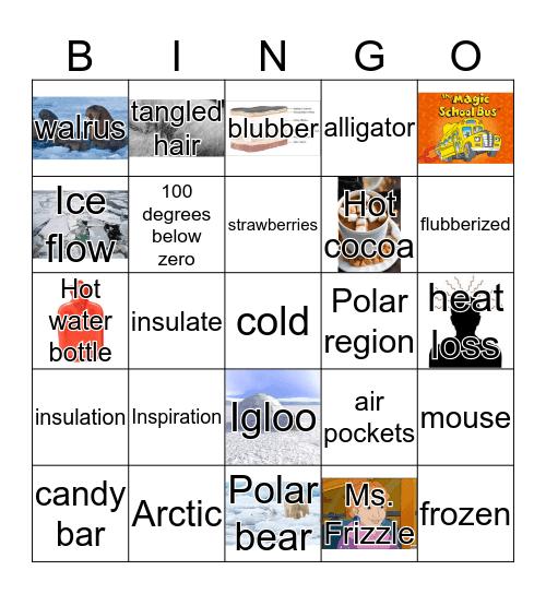 Magic School Bus goes to the Arctic Bingo Card