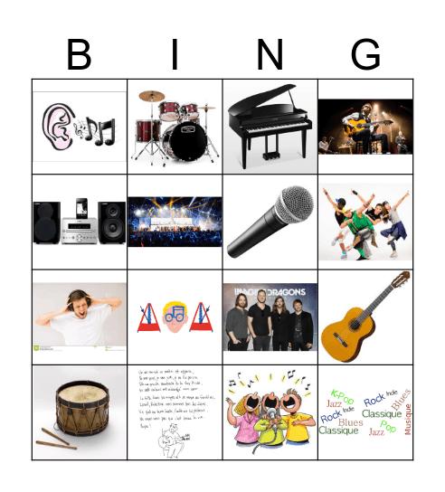 Musique ! Bingo Card