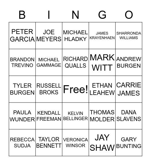 2019 WINNERS Bingo Card
