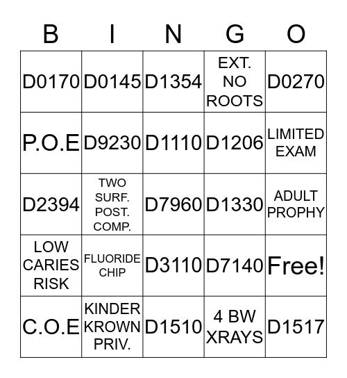 MD4k CODE BINGO  Bingo Card