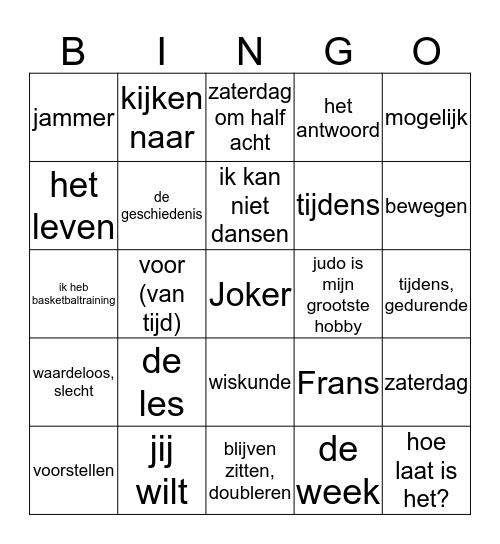 G1 U3 Woordkaartjes N-F Bingo Card