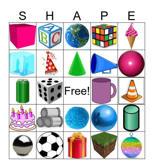 3D Shapes Bingo Card